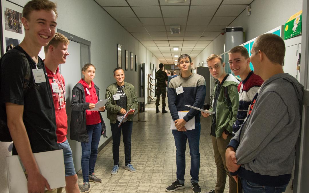 13 août 2019 : Incorporation de la Division Préparatoire de l'École Royale Militaire (DPERM)